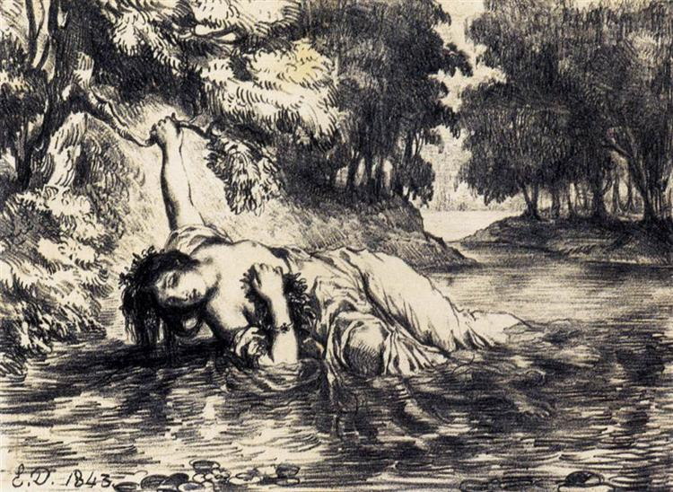 The Death of Ophelia, 1843 - Eugène Delacroix