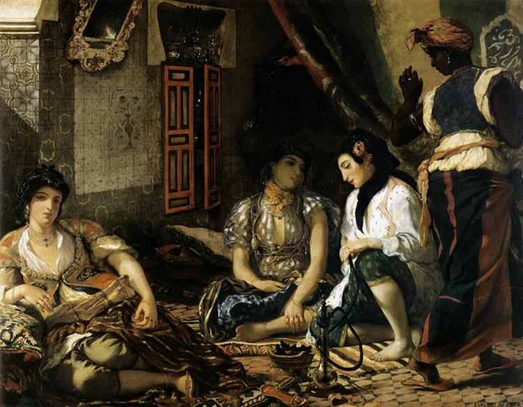The Women of Algiers in their Apartment - Eugene Delacroix