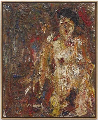 Marina nue - Eugene Leroy