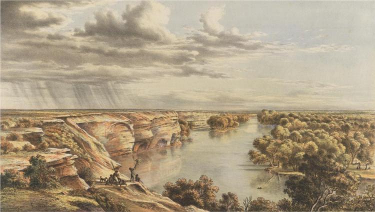 Murray River, Moorundi, 1867 - Eugene von Guerard