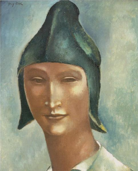 Head of a Young Man in a Pointed Hat, 1922 - Eugeniusz Zak