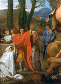 Hercules fighting Cacus - Eustache Le Sueur
