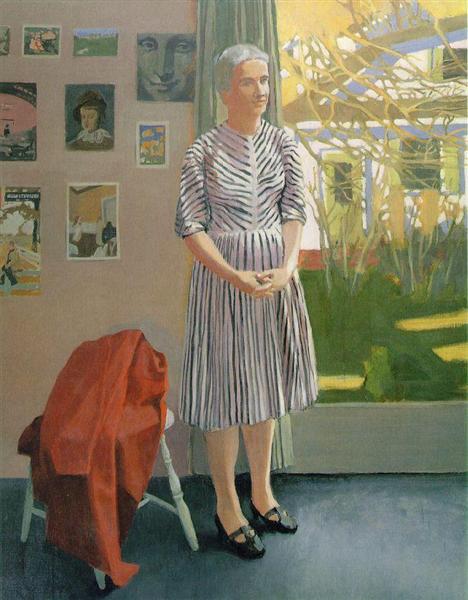 Anne in a Striped Dress - Fairfield Porter