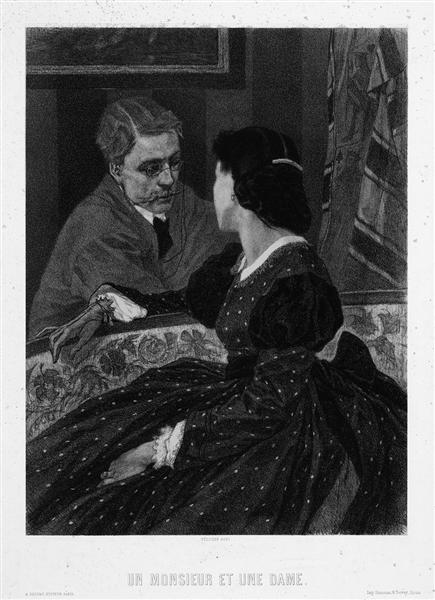 A Gentleman and a Lady (Aurelien Scholl and Marie Colombier), 1891 - Félicien Rops