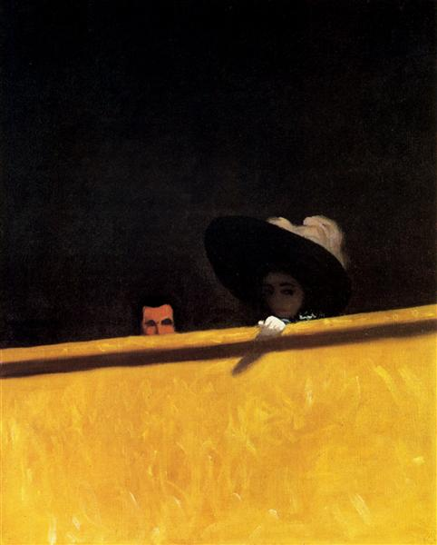 Box Seats at the Theater, the Gentleman and the Lady, 1909 - Felix Vallotton