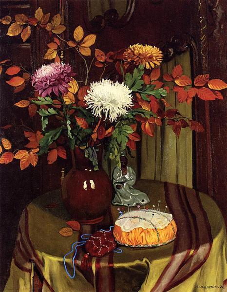 Chrysanthemums and Autumn Foliage, 1922 - Felix Vallotton