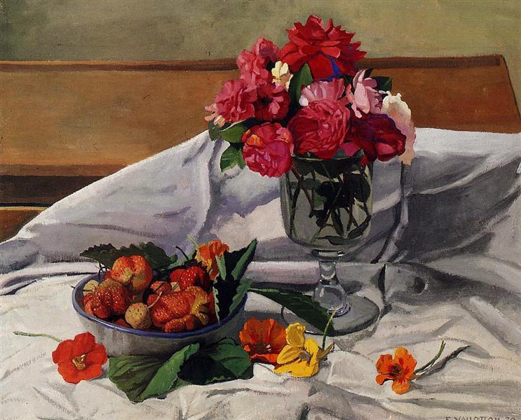 Flowers and Strawberries, 1920 - Felix Vallotton