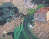 Housesand reeds - Felix Vallotton