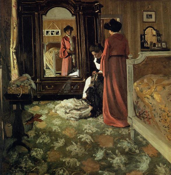 Interior, Bedroom with Two Figures, 1903 - 1904 - Felix Vallotton