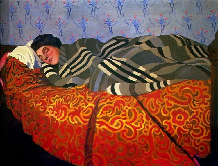 Laid down woman, sleeping, 1899 - Felix Vallotton