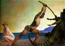 Persee killing the Dragon - Felix Vallotton