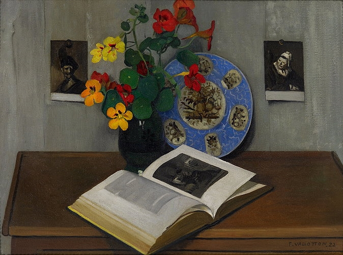 Still Life with Blue trim, 1922 - Felix Vallotton - WikiArt.org