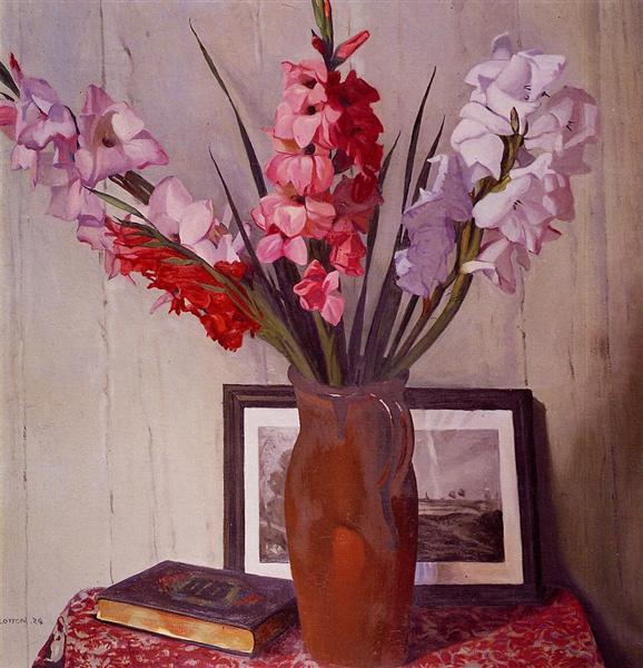 Still Life with Gladioli, 1924 - Феликс Валлотон