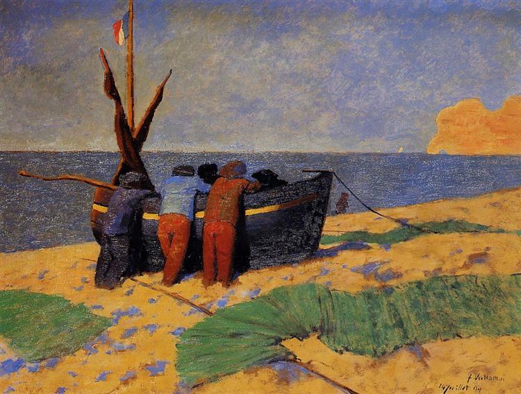 The Fourteenth of July at Etretat, 1899 - Феликс Валлотон