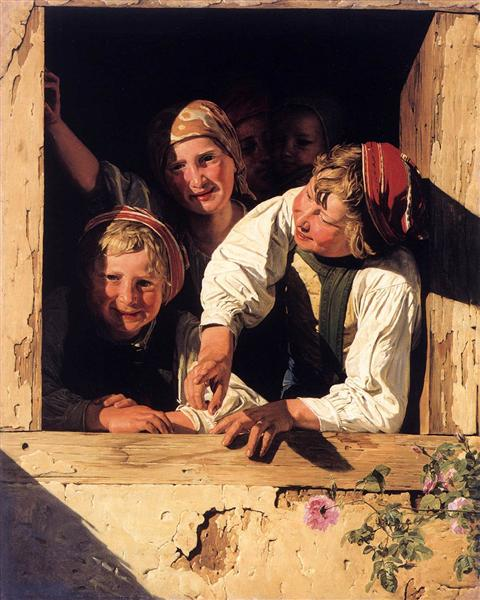 Children at the Window, 1853 - Ferdinand Georg Waldmüller