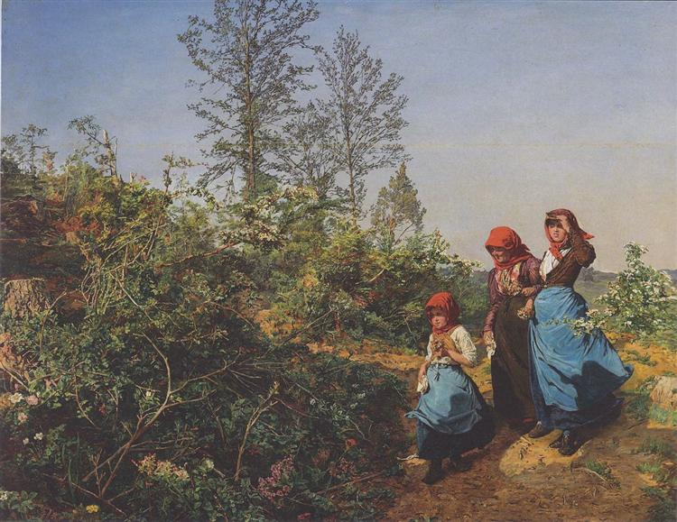 Church attendance in the spring, 1862 - Фердинанд Георг Вальдмюллер