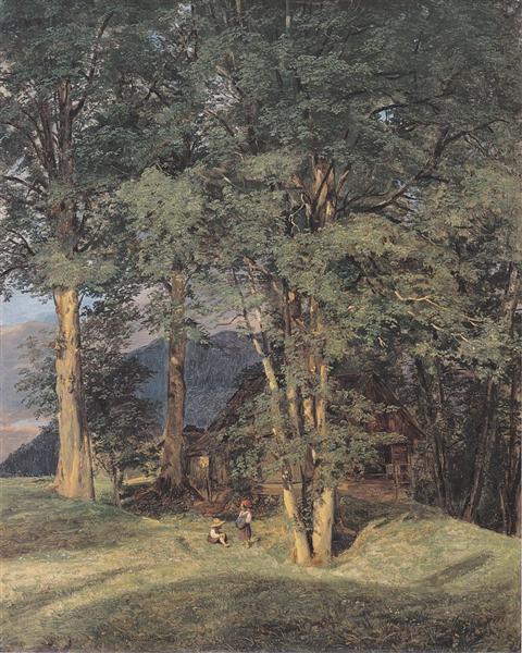 Maple trees near Ischl, 1831 - Ferdinand Georg Waldmüller