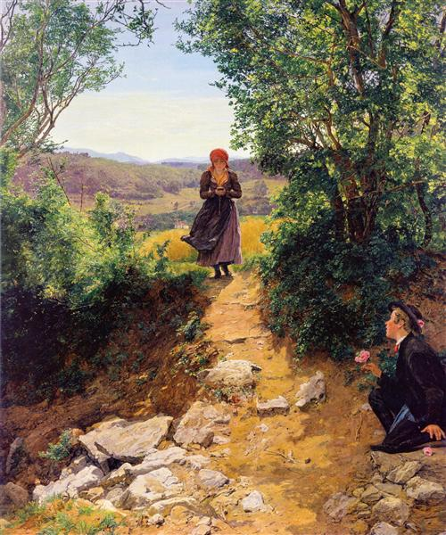 The expected woman, c.1860 - Фердинанд Георг Вальдмюллер
