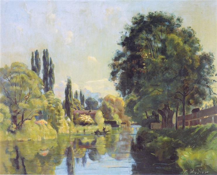 The Aarekanal near Thun, 1879 - Ferdinand Hodler