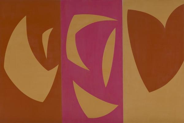 Triptyque ocre-violet-rouge - Fernand Leduc