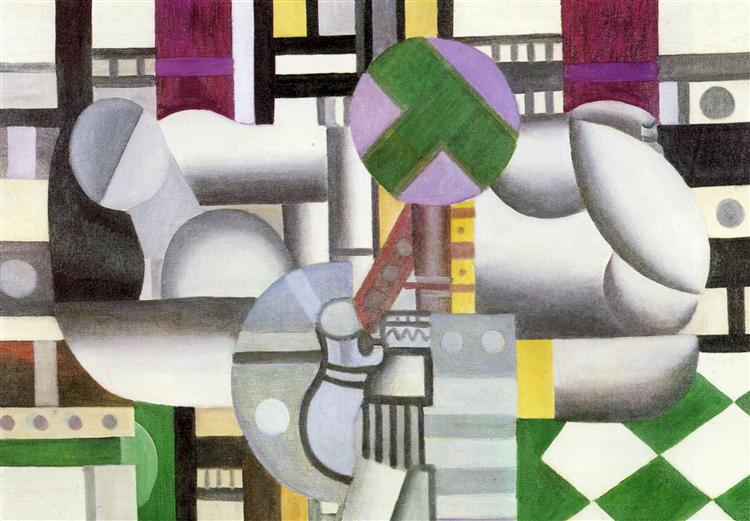 The birds in the landscape, 1921 - Fernand Leger