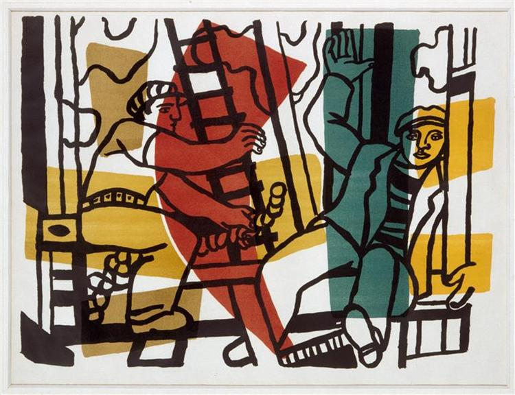 The Builders (outside color), 1955 - Fernand Léger