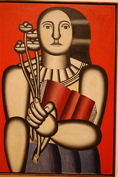 woman with a book 1923 fernand leger wikiart org