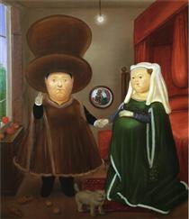 Dopo Arnolfini Van Eyck (2) - Fernando Botero