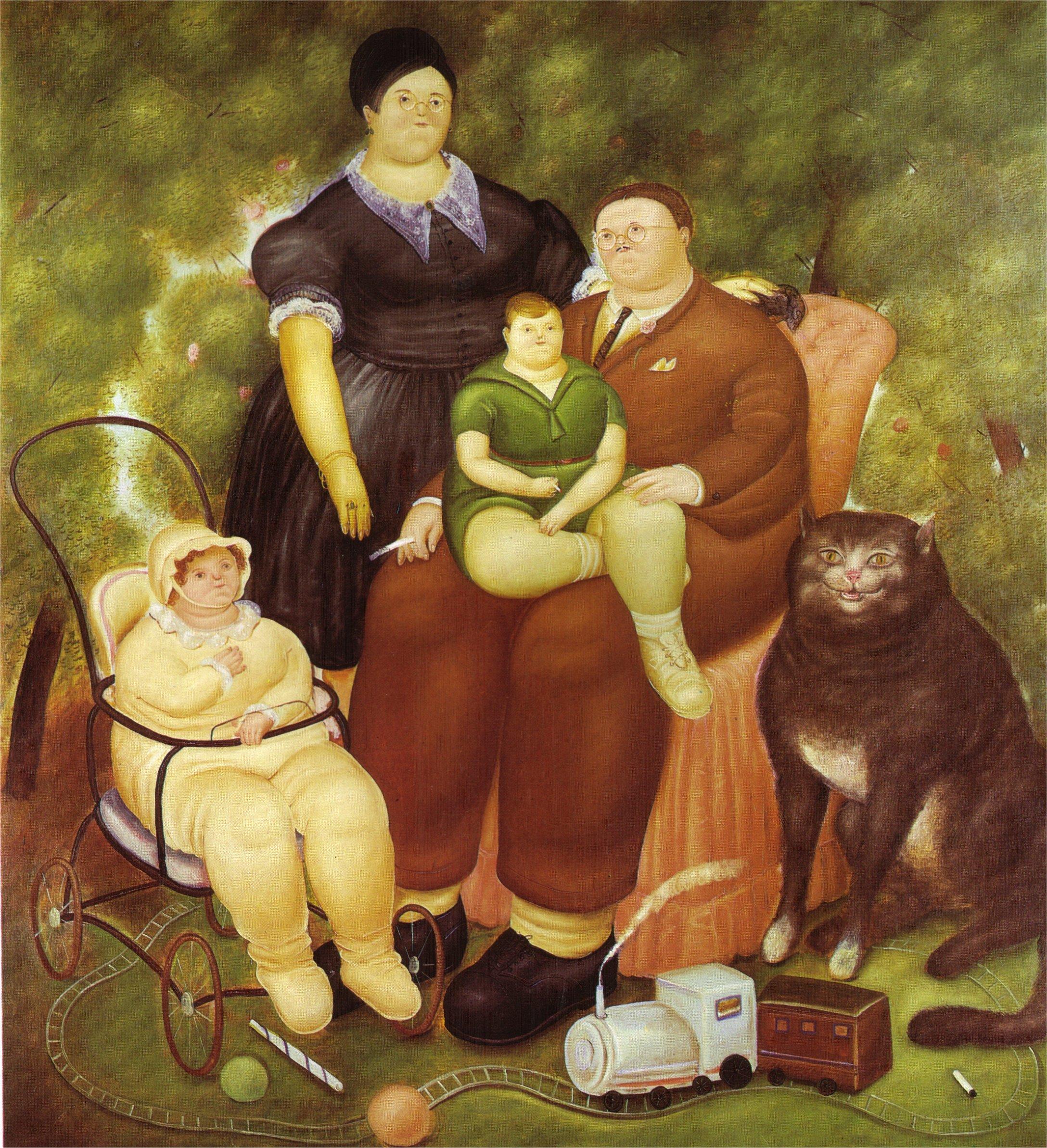 Célèbre Family Scene, 1969 - Fernando Botero - WikiArt.org YZ23