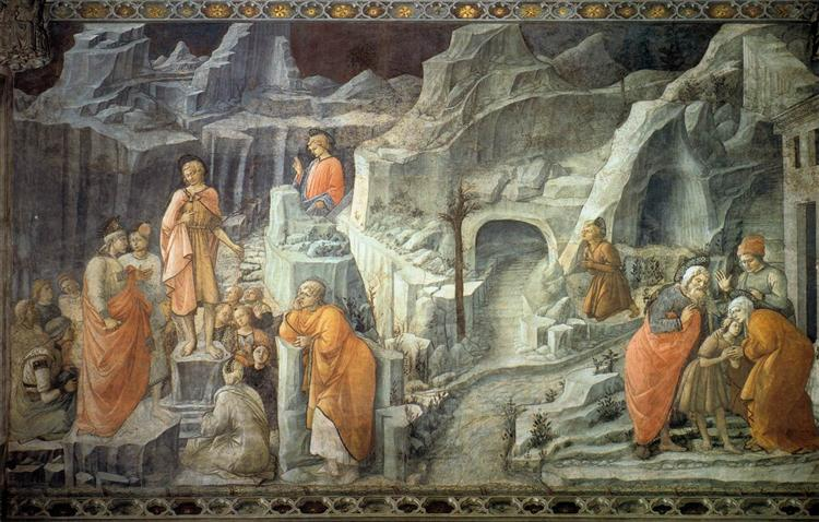 St. John Taking Leave of his Parents - Filippo Lippi