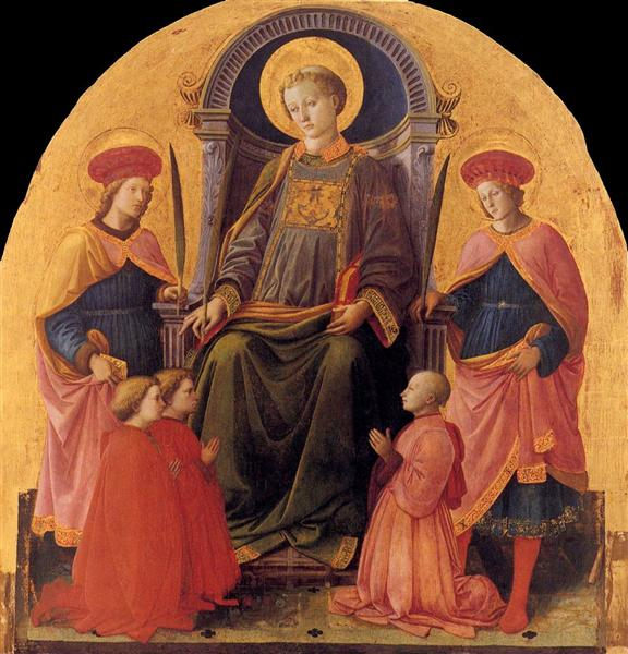 St. Lawrence Enthroned with Saints and Donors, 1451 - 1453 - Filippo Lippi