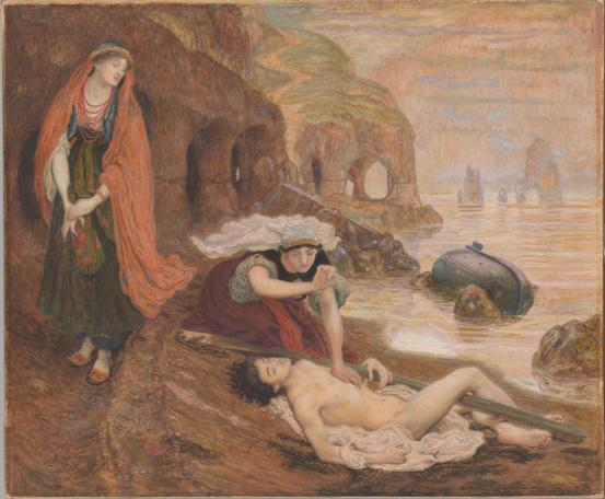 The finding of Don Juan by Haidée, 1869 - 1871 - Ford Madox Brown