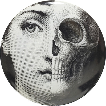 Theme & Variations Decorative Plate #288 (Half Skull Face) - Fornasetti