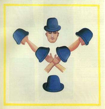 Under the Hat, 1978 - Francesco Clemente