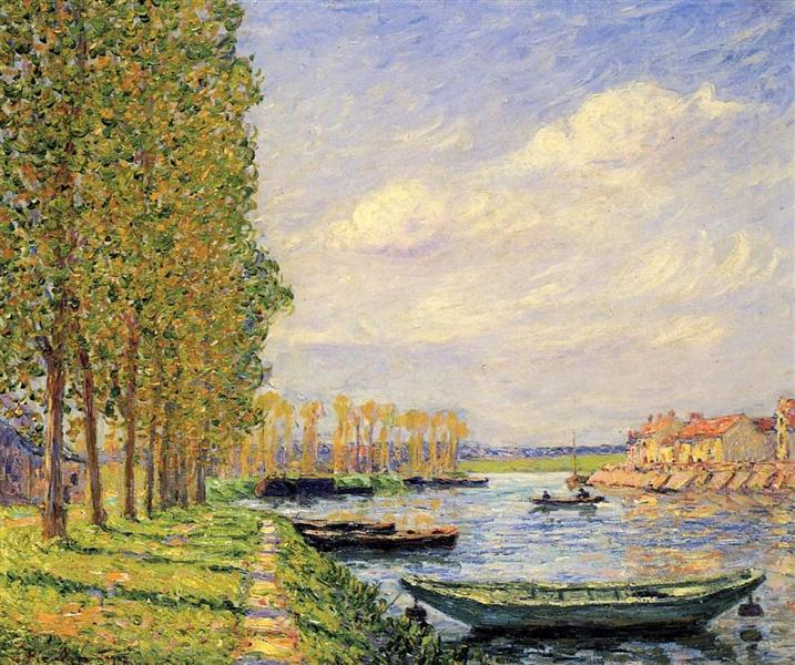 A Canal at St. Mammes - Francis Picabia