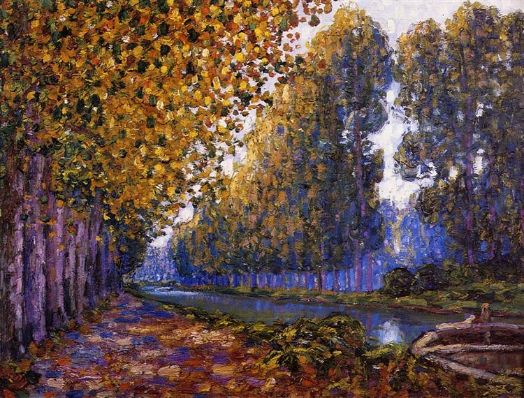 The Moret Canal, Autumn Effect, 1909 - Francis Picabia