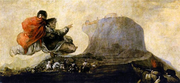 Asmodea / Fantastic Vision, 1820 - 1823 - Francisco Goya