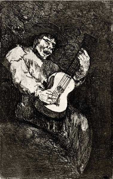 Blind singer, c.1820 - Francisco Goya