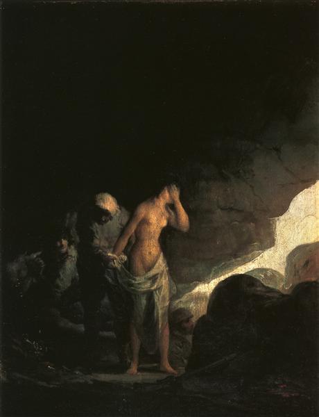 Brigand Stripping a Woman, 1798 - 1800 - Francisco Goya