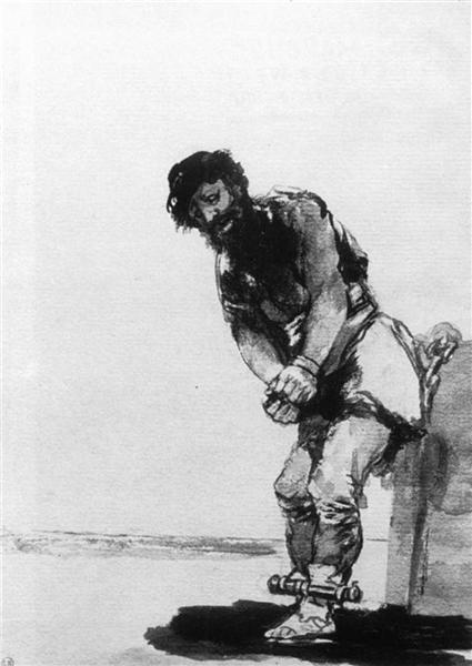 Chained Prisoner, 1806 - 1812 - Francisco Goya