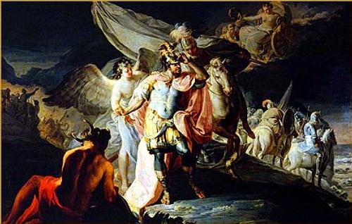 Hanibal vencedor contempla Italia desde los Alpes, 1771 - Francisco Goya