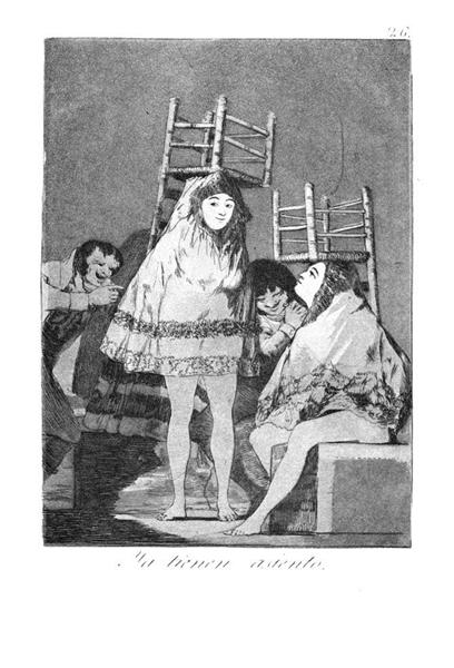 Now they are sitting well, 1799 - Francisco Goya
