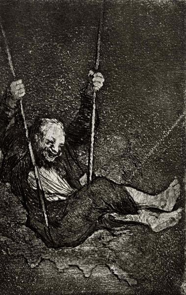 Old swinging, c.1820 - Francisco Goya