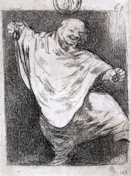 Phantom Dancing with Castanets, c.1824 - c.1828 - Francisco Goya