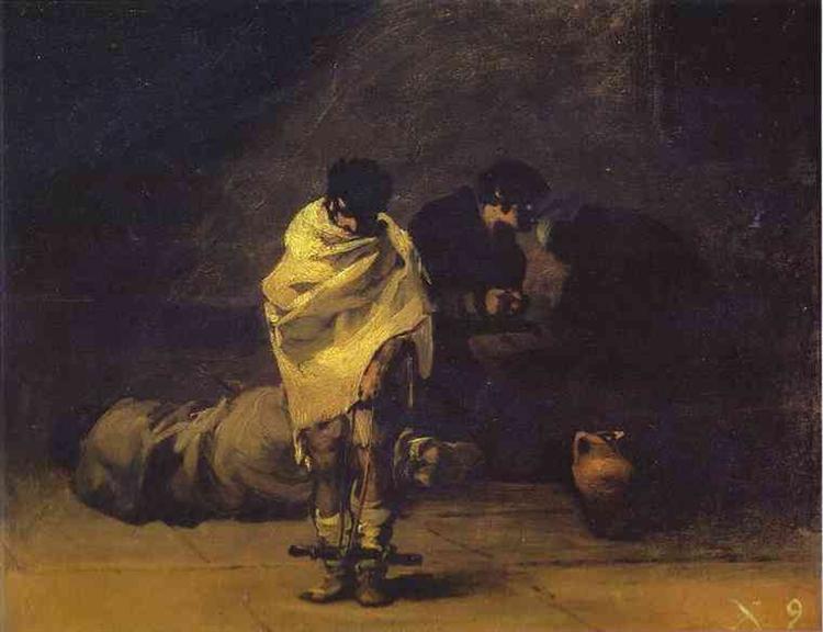Prison Scene, c.1808 - c.1812 - Francisco Goya