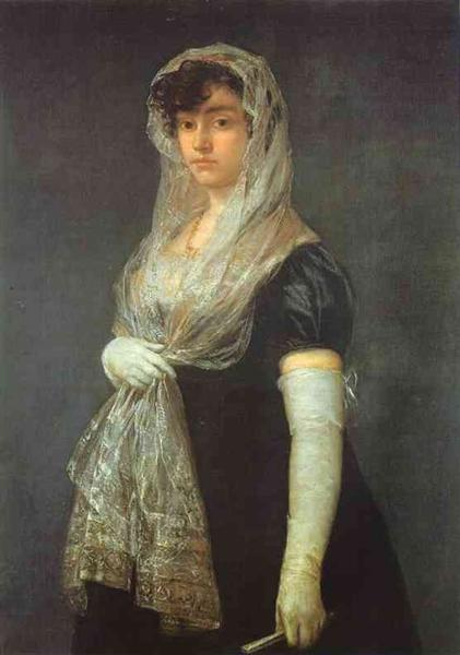 The Bookseller's Wife, c.1805 - c.1808 - Francisco Goya