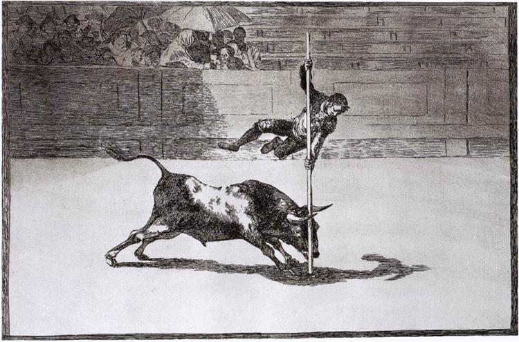 The Speed and Daring of Juanito Apiñani in the Ring of Madrid, 1815 - 1816 - Francisco Goya