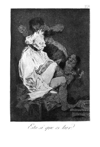 This certainly is reading, 1799 - Francisco Goya