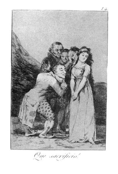 What a sacrifice!, 1799 - Francisco Goya
