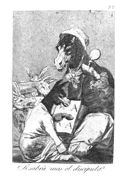 Will the student be wiser?, 1799 - Francisco Goya